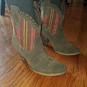 Very Volatile leather suede brown cowboy boots